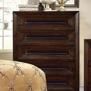 Orlaith Reformative Wise Chest, Transitional Style, Walnut