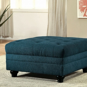 Stanford Ii Contemporary Ottoman, Teal Blue