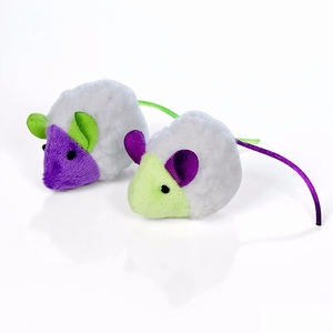 """Our Pets Mouse in Sheep's Clothing Cat Toy Multi-Color 5"""" x 1.5"""" x 1"""""""