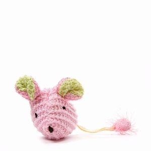 """Our Pets Wee Pinkie Mouse Cat Toy Pink 5"""" x 1.5"""" x 1"""""""