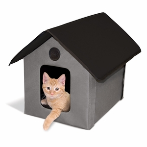 "KHM-3997 Outdoor Kitty House (Unheated) Gray/Black 18"" X 22"" X 17"""