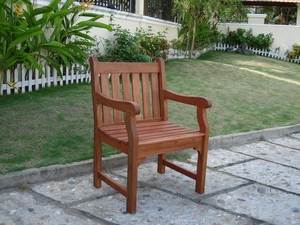 Outdoor  Eucalyptus Wood Arm Chair