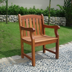 Outdoor Eucalyptus Wood Arm Chair V211
