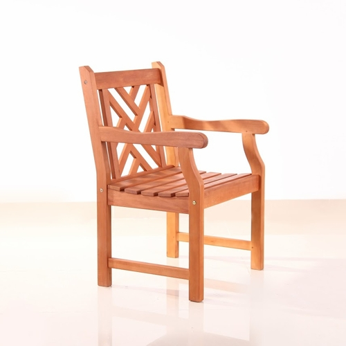 Buy Outdoor Wood Arm Chair by Vifah