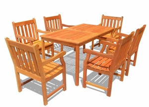 Outdoor Wood English Garden Dining Set 26