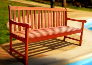 Outdoor Wood Nobi 5' Bench by Vifah