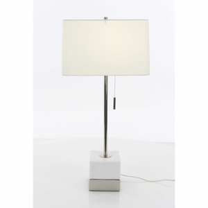 Outstanding Marble Metal Finish Table Lamp - 60187 by Benzara