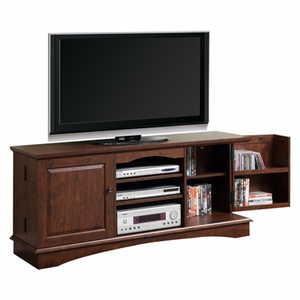 Outstanding Media Storage Wood TV Console in Traditional Brown by Walker Edison