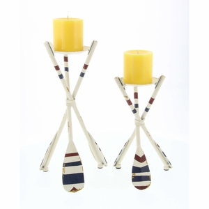 Multicolor Outstanding Oar Candle Holder Set Of 2  - 84234 by Benzara