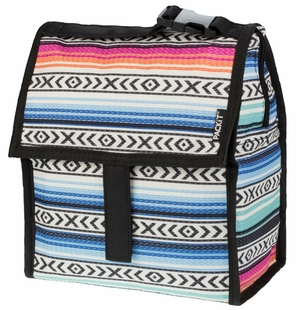 PackIt Freezable Lunch Bag with Zip Closure, Fiesta