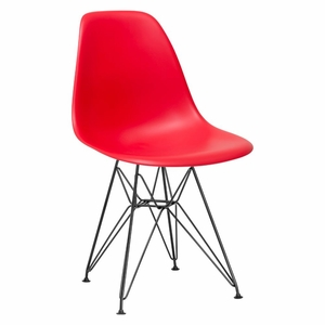 Padget Side Chair in Black / Red(Set of 2)