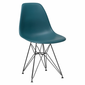 Padget Side Chair in Black / Teal
