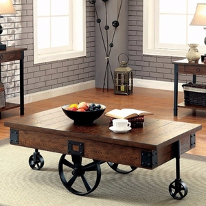 Paige Industrial Coffee Table - CM4319C by Furniture Of America