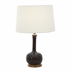 Paper Mache Wooden Table Lamp - 94547 by Benzara