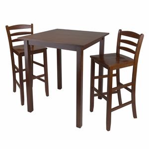 """Parkland 3pc High Table With L29"""" adder Back Stool by Winsome Woods"""