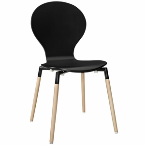 Path Dining Side Chair Black