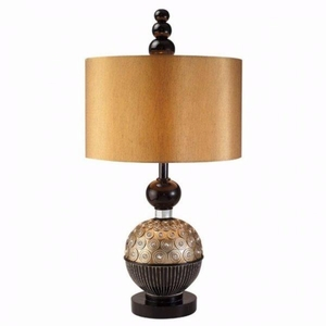 Patrice Limelight Table Lamp, Gold & Black