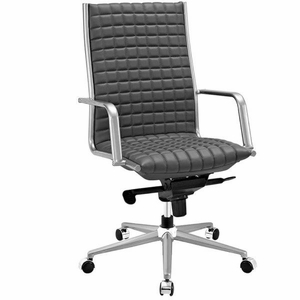 Pattern Highback Office Chair, Gray
