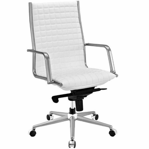Pattern Highback Office Chair, White