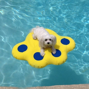 Paws Aboard Doggy Lazy Raft Small Yellow 25.5x 29 Inch