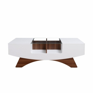 FRA-YNJ-146-2 Glass Top Contemporary Coffee Table