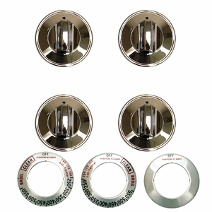8224 Range Kleen 16-Piece Replacement Knob Kit for 4 Knobs, Gas Ranges, Chrome
