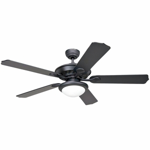 """Perfectly Styled 52"""" Venetian Bronze frame Ceiling Fan with Alabaster shade Light by Yosemite Home Decor"""