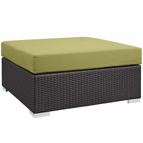Buy Peridot Convene Outdoor Patio Large Square Ottoman At