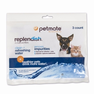 "Petmate Replendish Replacement Filters 3 pack with 1 filter strap 8.3"" x 0.6"" x 6.1"""