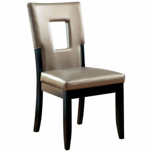 Peyton 2 PC Faux Leather Upholstered Formal Side Chair
