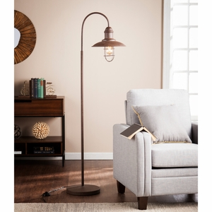 Pinsley Caged Bell Floor Lamp