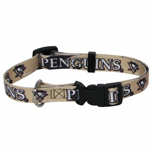 Pittsburgh Penguins Dog Collar Medium