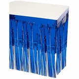 Pkgd 1-Ply FR Metallic Table Skirting (blue) Party Accessory  (1 count) (1/Pkg)