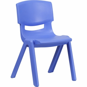 Plastic Stack Chair Blue - YU-YCX-005-BLUE-GG by Flash Furniture