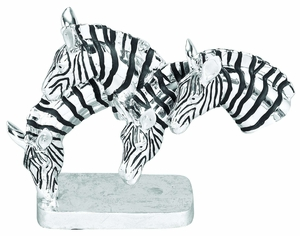 Polystone Grazing Zebras With Wild Life Blend - 35108 by Benzara