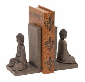 Library Polystone Buddha Bookend - 44691 by Benzara