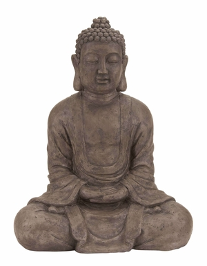 Table Top Polystone Buddha  Sculpture - 44692 by Benzara
