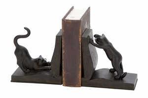 POLYSTONE CAT BOOKEND PAIR FOR BOOKS LOVERS - 44690 by Benzara