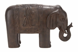 17 INCHES HIGH POLYSTONE ELEPHANTdecor RARE TO FIND ELSEWHERE - 44682 by Benzara