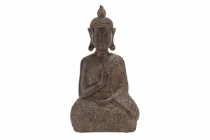 BROWN POLYSTONE BUDDHAdecor 9 INCHES WIDE - 44676 by Benzara