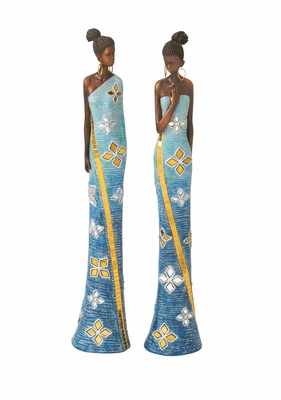 Polystyrene African Lady 2 Assorted - 44287 by Benzara