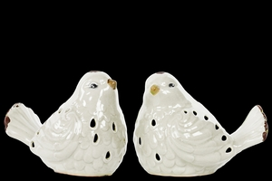 Porcelain Bird Set of Two Distressed