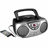 Portable AM/FM CD Boombox with AUX Line-in  Black