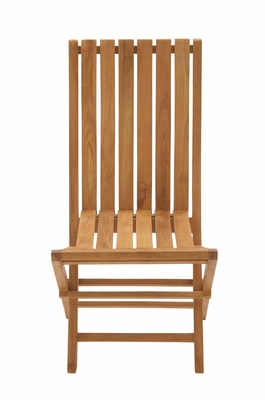 Portable And Useful Wood Teak Folding Chair - 92455 by Benzara