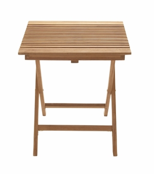 Portable And Useful Wood Teak Folding Table - 92450 by Benzara