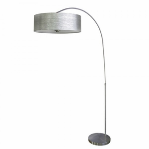Yosemite Home Decor Portable Lamps Collection Attractively Styled Arc Floor Lamp in Satin steel