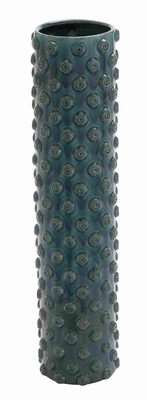 Weather Resistant Portable Crackled Vase with Washed Fabric - 71786 by Benzara