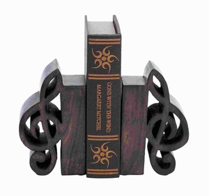 Book End Pair Adorned With Rich Finish - 14416 by Benzara