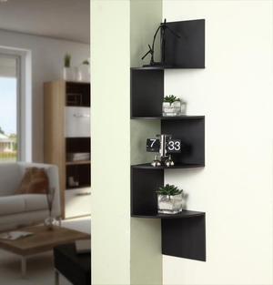 4D Concepts Prestigious Unique Styled Hanging Corner Storage