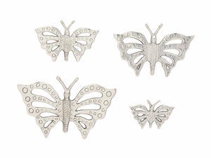 Pretty Aluminum Butterfly Set Of 4 - 37077 by Benzara